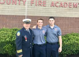Deputy Chief Joe Edwards, FF/EMT Peat, Lt. Raymond