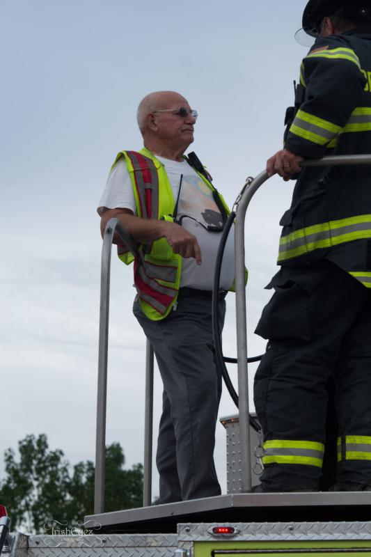 """Our Driver / Operator Asa """"Skip"""" Vanlew has decades of fire ground operations experience"""