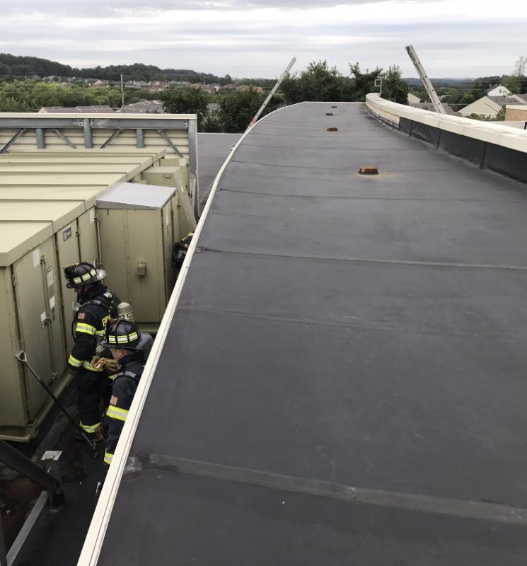 The School has a very unique roof deck with multiple levels