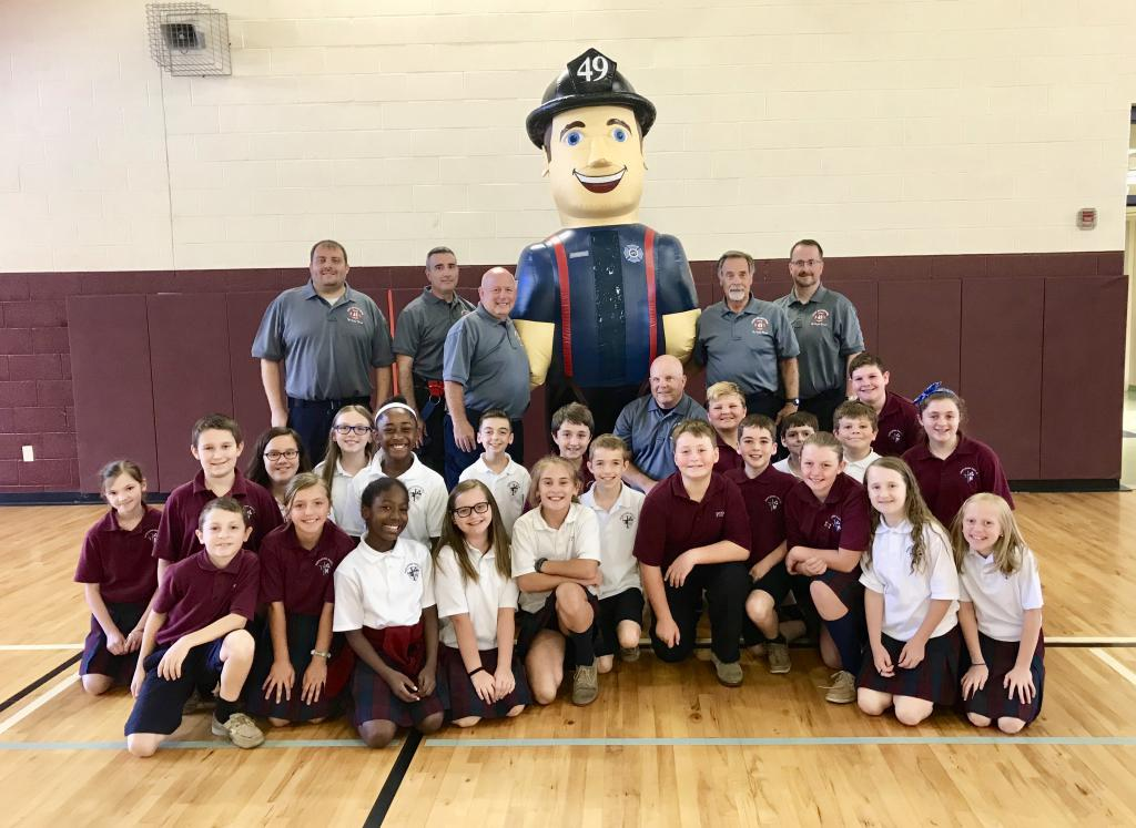The Fire Prevention Team at Pope John Paul