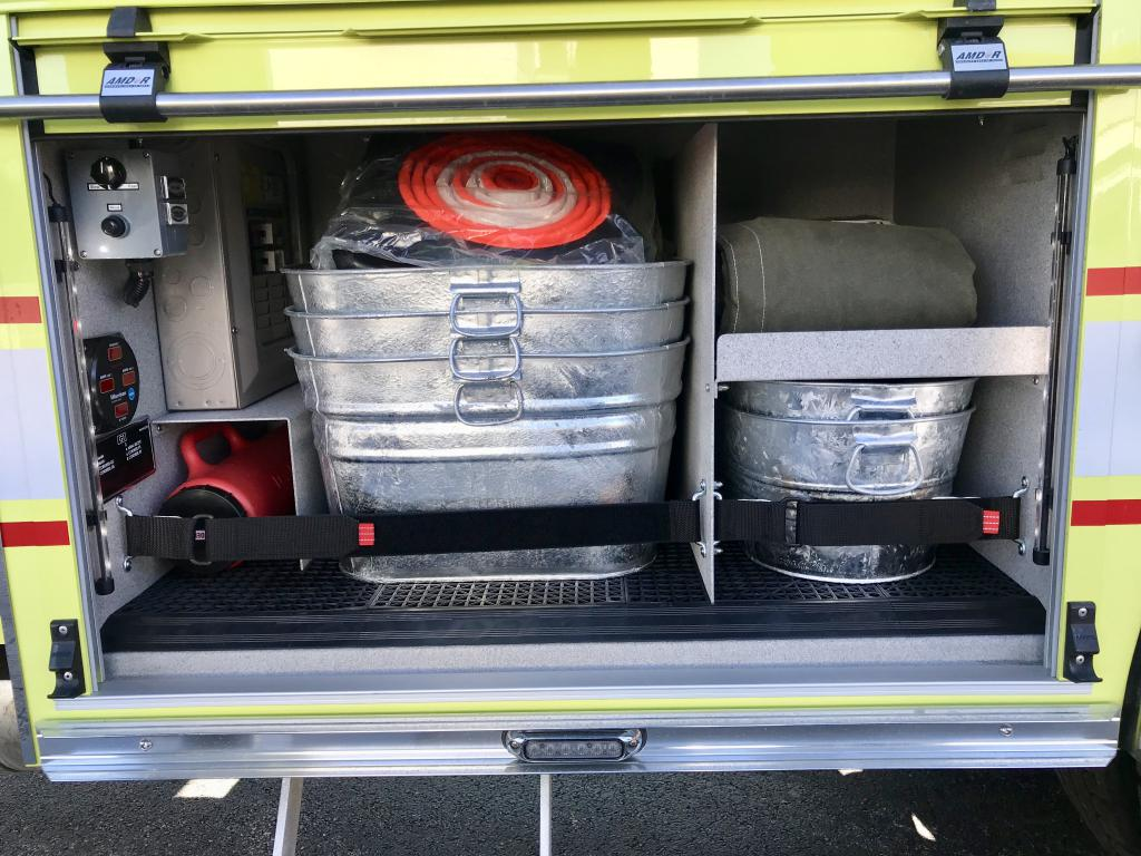 Salvage and chimney fire compartment