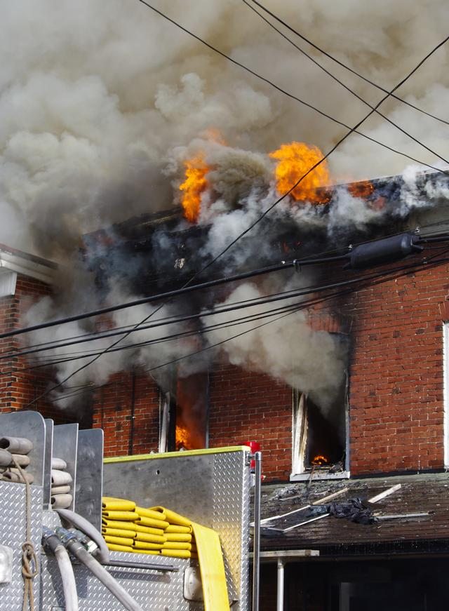 4 Alarm Fire in the City of Coatesville - East Brandywine Fire Company