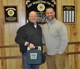 Chief John Edwards and Steve Silva