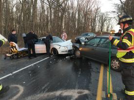 Auto accident at Route 82 and Hibernia Road