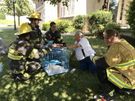 Care goes beyond extinguishing the fire.  It is making sure immediate needs of people are met like pet care, medications, etc.