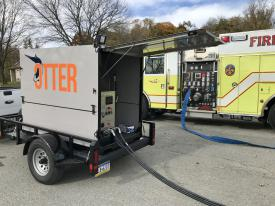 The Otter power unit.  This unit can be placed on a trailer or pick-up truck bed.  It allows for ease of placement.