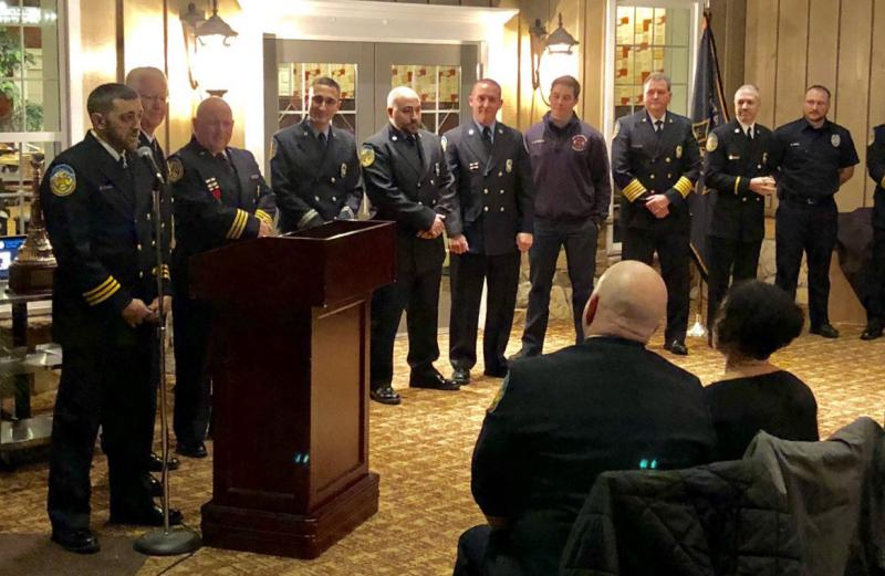 Chief Vince D'Amico introducing the Line Officers