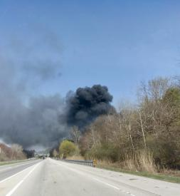 Smoke as seen from Route 30 bypass