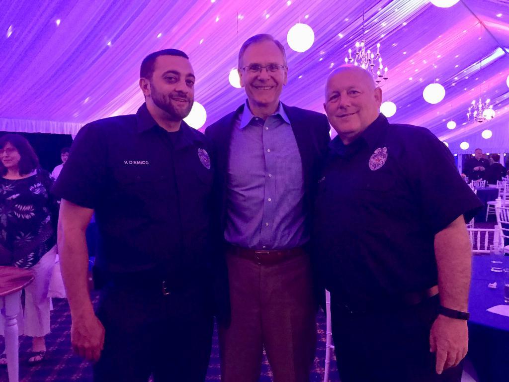 Chief Vince D'Amico, Dr. Gordon Eck, Deputy Chief Joe Edwards